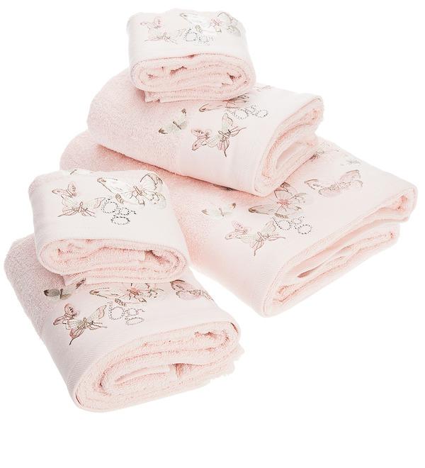Комплект из 5 полотенец Настроение лета (розовый) – фото № 2