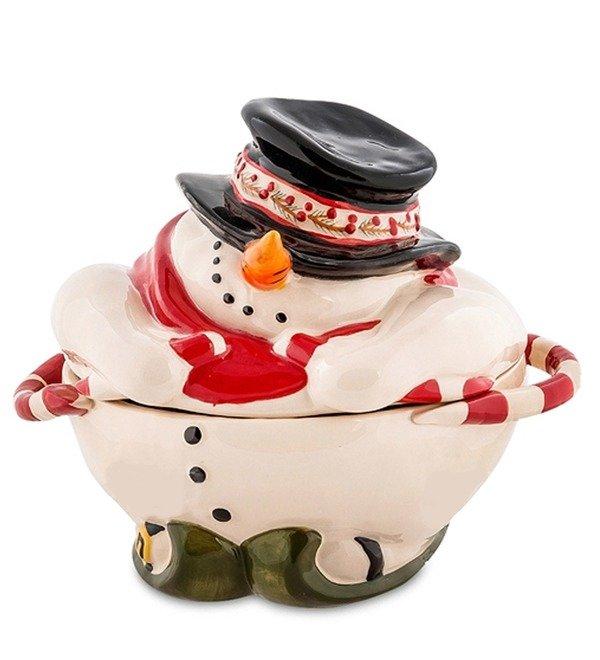 Конфетница Снеговик (Pavone) – фото № 1