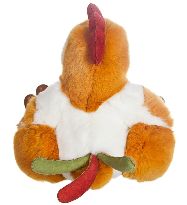 Toy made of natural fur Cock – photo #4