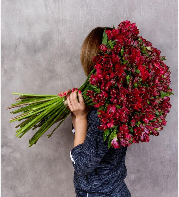 Bouquet Ruby (25, 51 or 101 alstroemeria) – photo #2