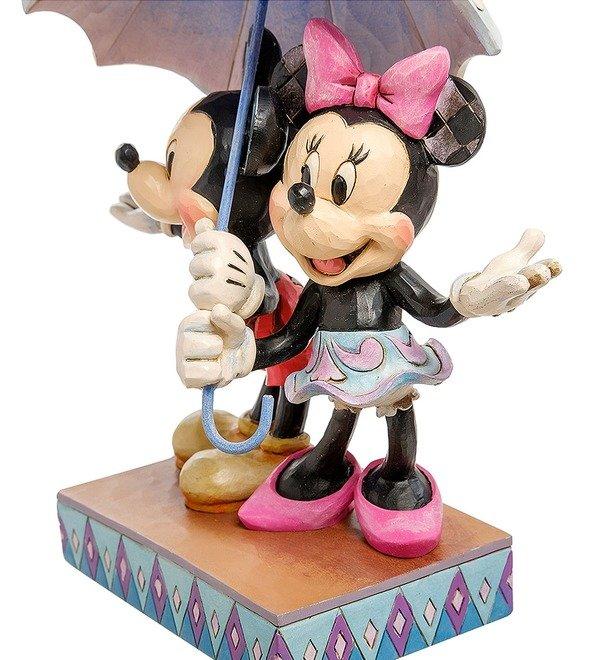 Figurine Mickey and Minnie with an umbrella. Romance in the Rain (Disney) – photo #3
