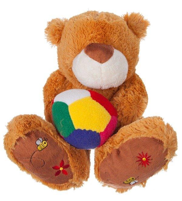Мягкая игрушка Мишка Бигфут с мячом (25 см) – фото № 1