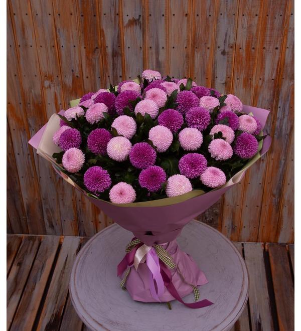Букет-дуэт хризантем Вальс любви (15,21,35,51 или 75) – фото № 1