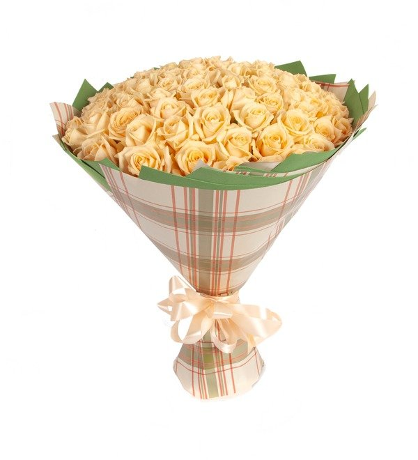 Bouquet-solo Cream roses (25.51.75 or 101) – photo #5