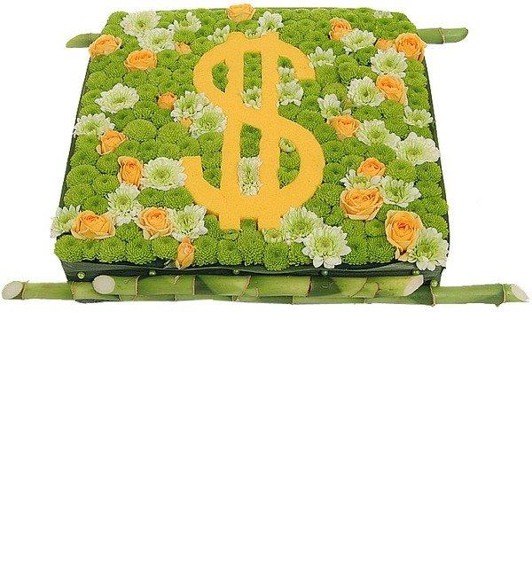 Цветочная композиция Счастливый доллар – фото № 4
