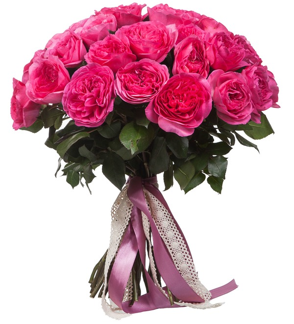 Bouquet of pion-shaped roses Baroness (15, 25 or 51) – photo #2
