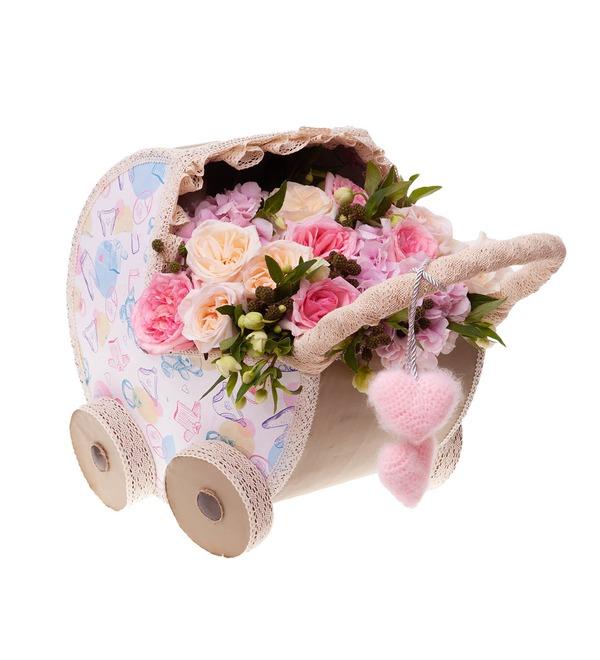 Цветочная коляска С Рождением Малышки! – фото № 5