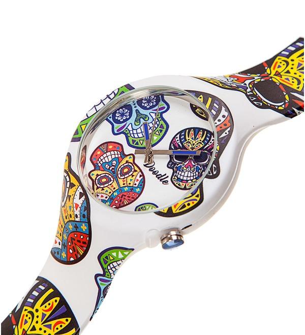 Часы Doodle Белый череп – фото № 2