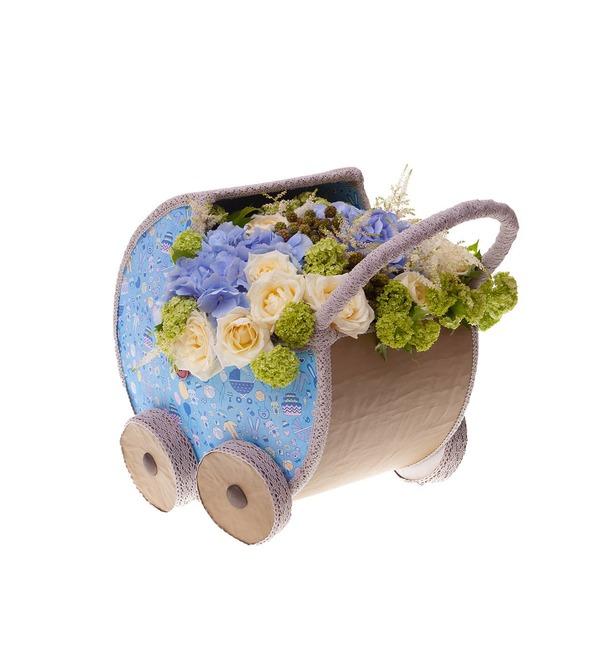 Цветочная коляска С Рождением Малыша! – фото № 5