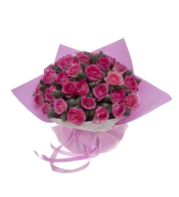 Букет-соло розовых роз (15,25,35,51,75 или 101) – фото № 4