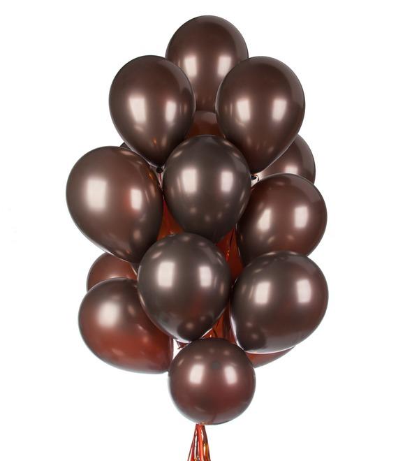 Букет шаров Горячий шоколад (15 или 31 шар) – фото № 1