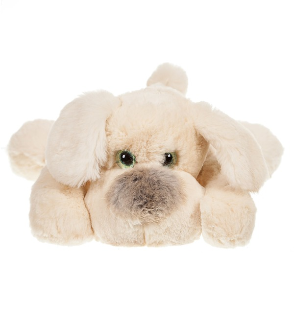 Toy from natural rabbit fur Dog (25 cm) – photo #4