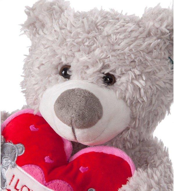 Soft toy Bear Jean (33 cm) – photo #2