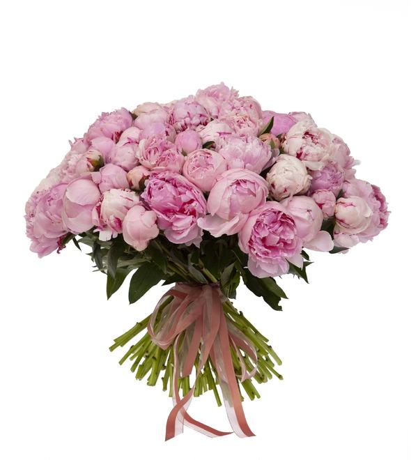 Букет-соло пионов Sarah Bernhardt (15,25,35,51,75 или 101) – фото № 4