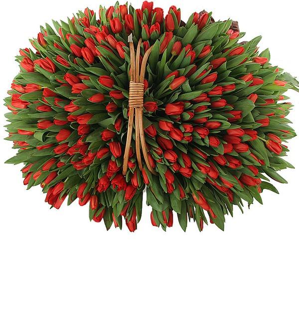 Композиция из красных тюльпанов (301 или 501) – фото № 4