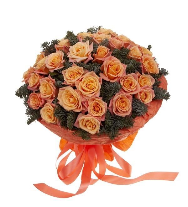 Букет-соло роз Мисс Пигги (15,25,35,51,75 или 101) – фото № 5