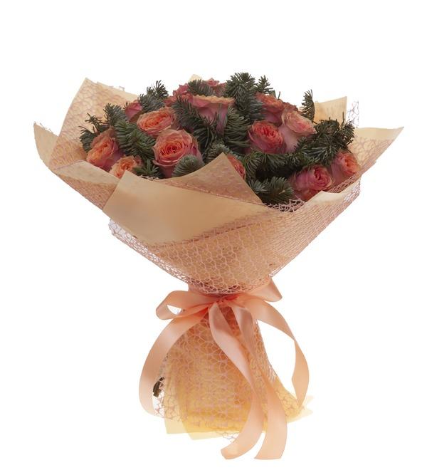 Букет-соло роз Лесная сказка (15,25,35,51,75 или 101) – фото № 4