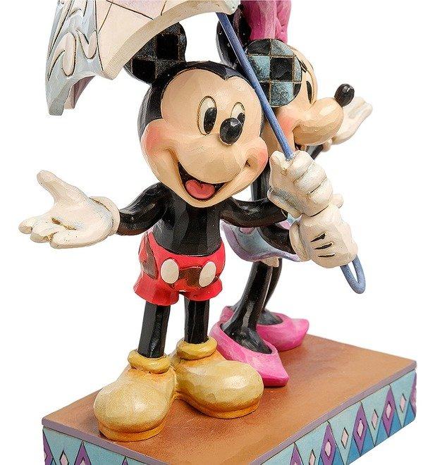 Figurine Mickey and Minnie with an umbrella. Romance in the Rain (Disney) – photo #4