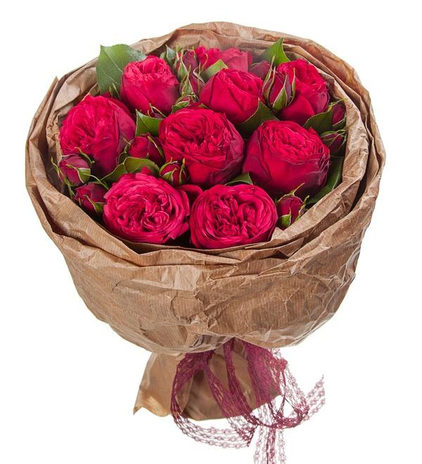Букет из пионовидных роз Обворожительный – фото № 5
