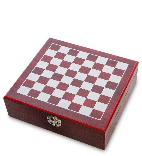 Подарочный набор фляжка 200 мл с шахматами Гроссмейстер – фото № 3