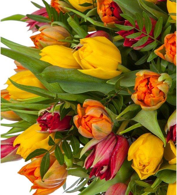 Композиция из пионовидных тюльпанов (151, 301 или 501шт.) – фото № 2