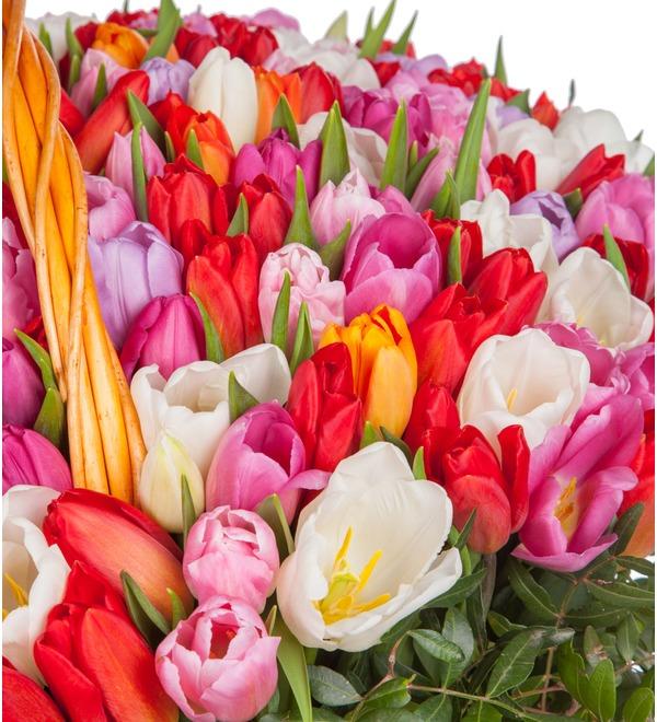 Композиция из тюльпанов Драгоценная моя... (51, 101 или 201) – фото № 2