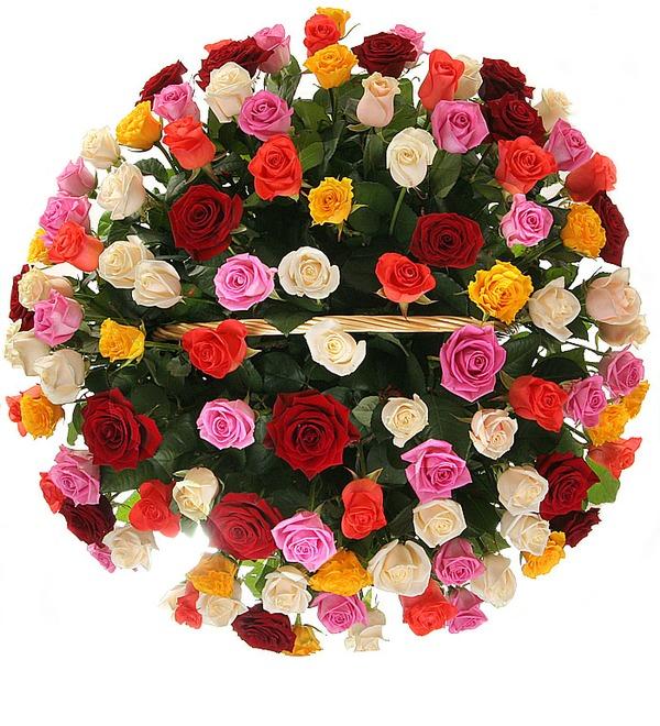 Композиция Праздничный салют (51, 101 или 201 роза) – фото № 2