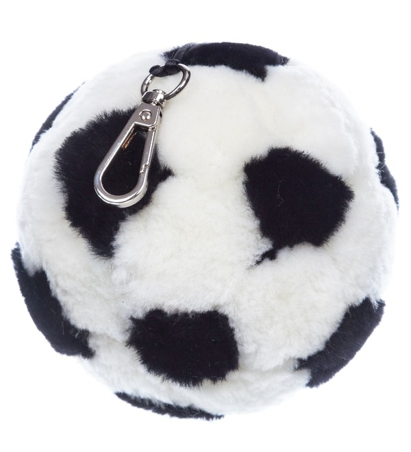 Keychain from natural fur Ball (14 cm) – photo #1