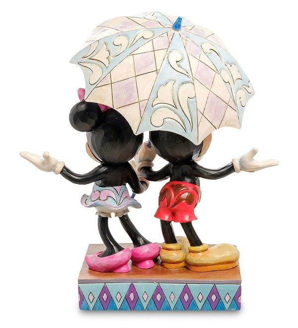 Figurine Mickey and Minnie with an umbrella. Romance in the Rain (Disney) – photo #2