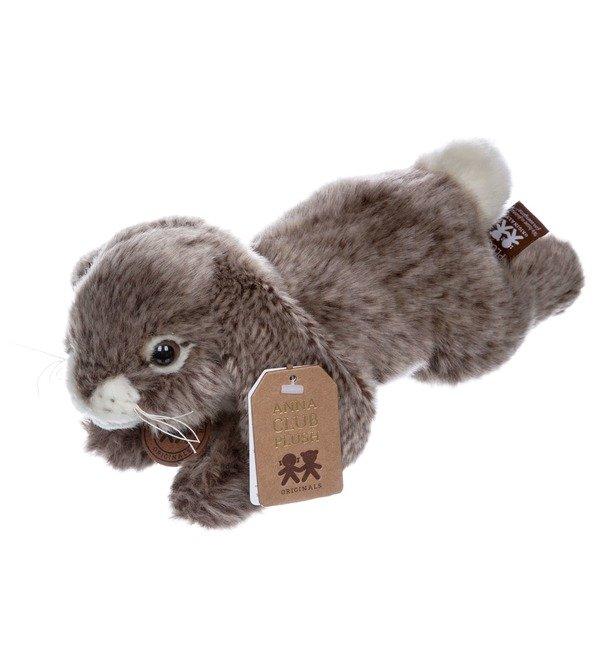 Мягкая игрушка Серый кролик (25 см) – фото № 3