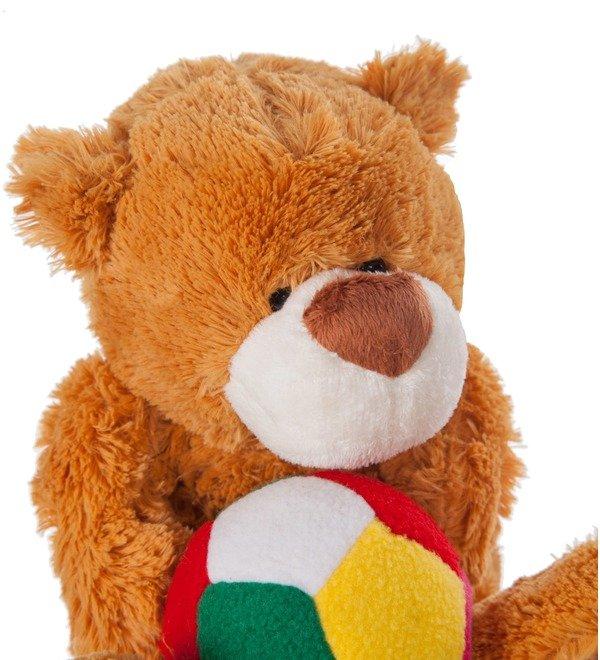 Мягкая игрушка Мишка Бигфут с мячом (25 см) – фото № 2