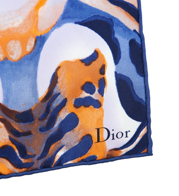 Шелковый платок Christian Dior (Италия, 90х90 см) – фото № 2
