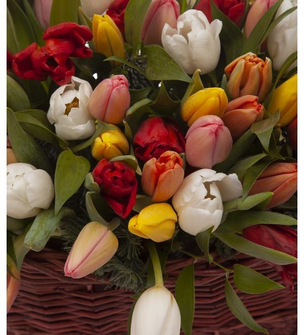 Композиция Яркие тюльпаны (51,101 или 201) – фото № 3