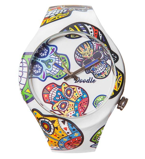 Часы Doodle Белый череп – фото № 1