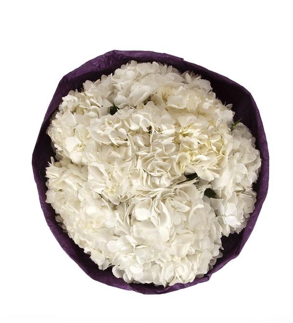 Букет-соло Белые гортензии (5,7,9 или 15) – фото № 4