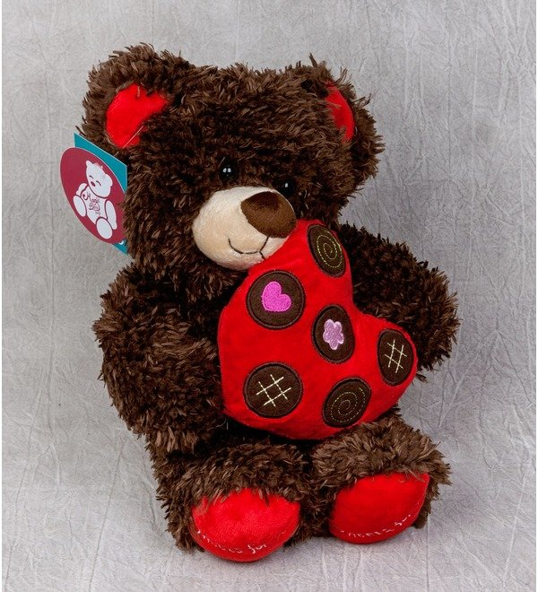 Toy Bear with heart (31 cm) – photo #1