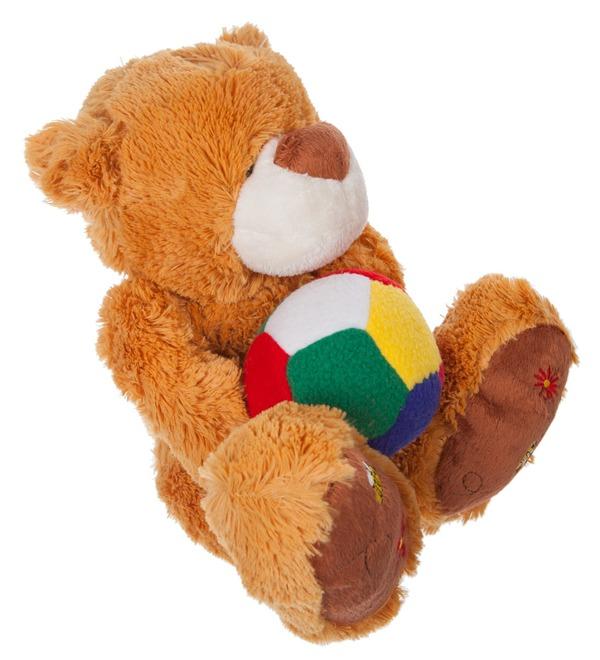 Мягкая игрушка Мишка Бигфут с мячом (25 см) – фото № 3