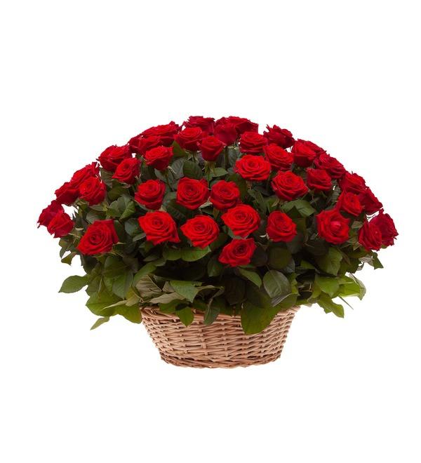 Композиция Пурпурный сонет (51, 101 или 151 роза) – фото № 4