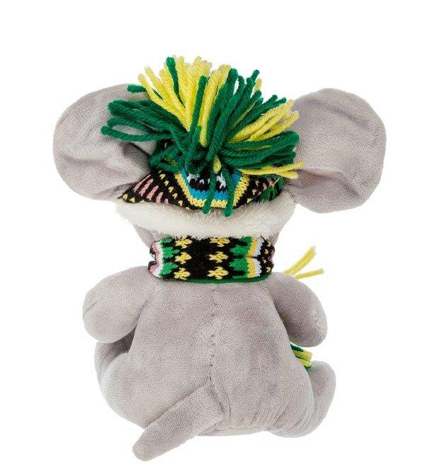 Мягкая игрушка Мышь в зимней шапочке – фото № 2