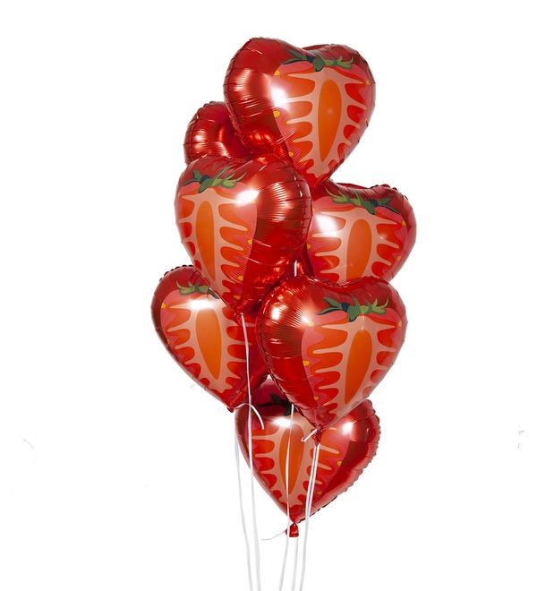 Букет шаров Клубника (7 или 15 шаров) – фото № 1