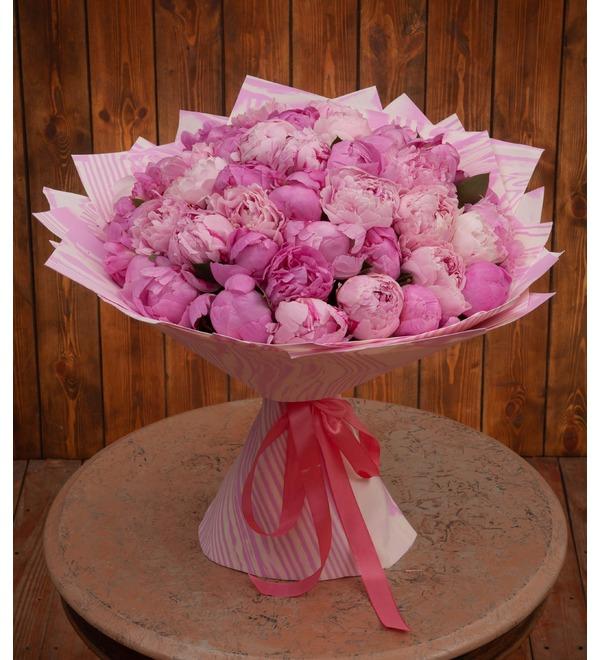 Букет-дуэт Розовые пионы (15,25,35,51,75,101 или 151) – фото № 1