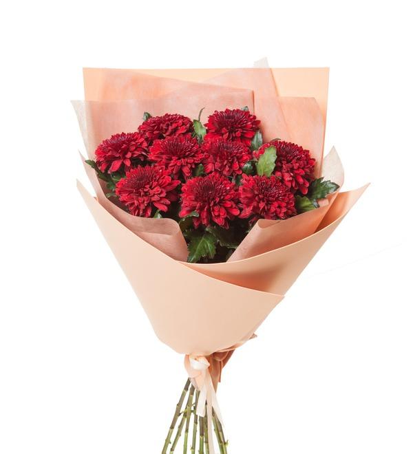 Букет хризантем Поцелуй (5, 9 или 15) – фото № 5