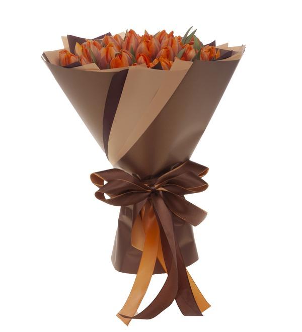 Букет-соло Тюльпаны Orange Princess (35,51,75,101 или 151) – фото № 4