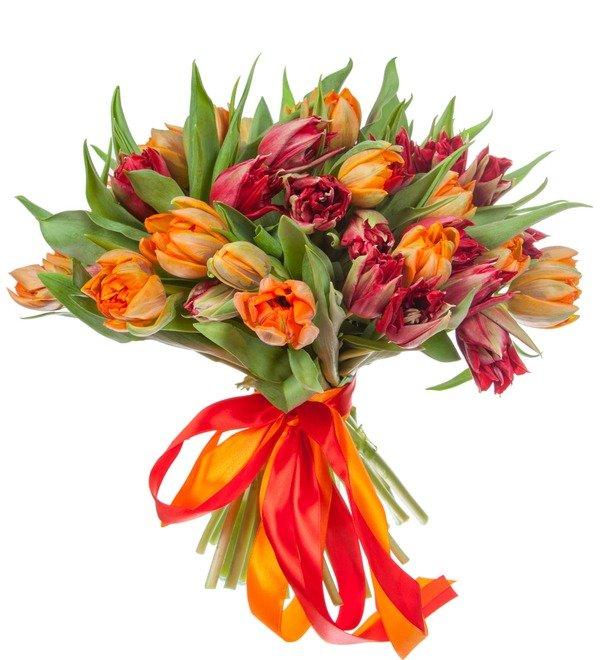 Букет-дуэт тюльпанов Королева (25,35,51,75 или 101) – фото № 4