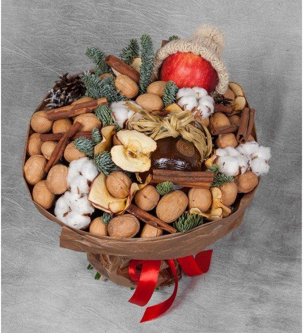 Букет из орехов, сухофруктов и мёда Зимнее чаепитие – фото № 1
