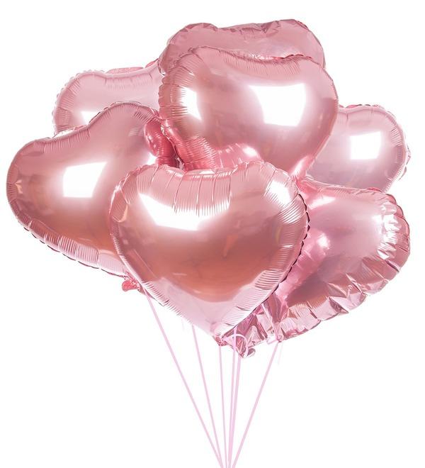 Букет шаров Сердце (7 или 15 шаров) – фото № 1