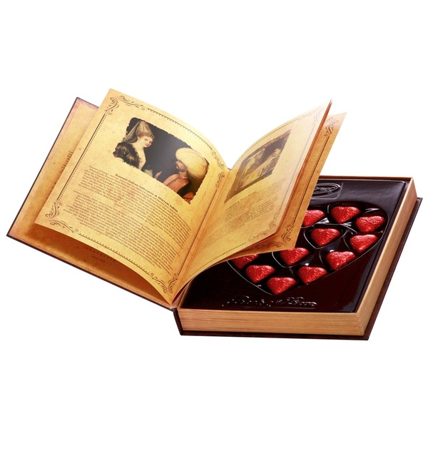 Набор шоколадных конфет Книга любви – фото № 1