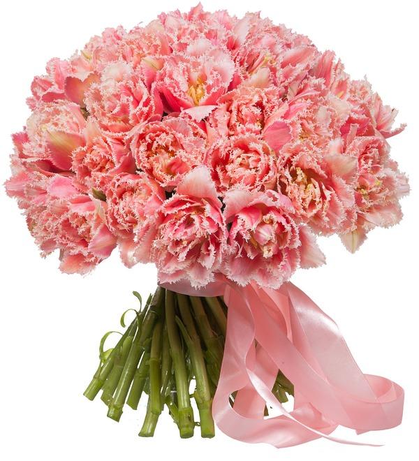 Букет-соло эксклюзивных тюльпанов Queensland (15,25,35,51,75 или 101) – фото № 2