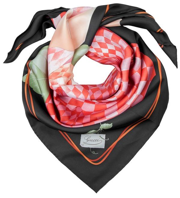 Шелковый платок GUCCI Королевская Роза (Италия, 90х90 см) – фото № 2