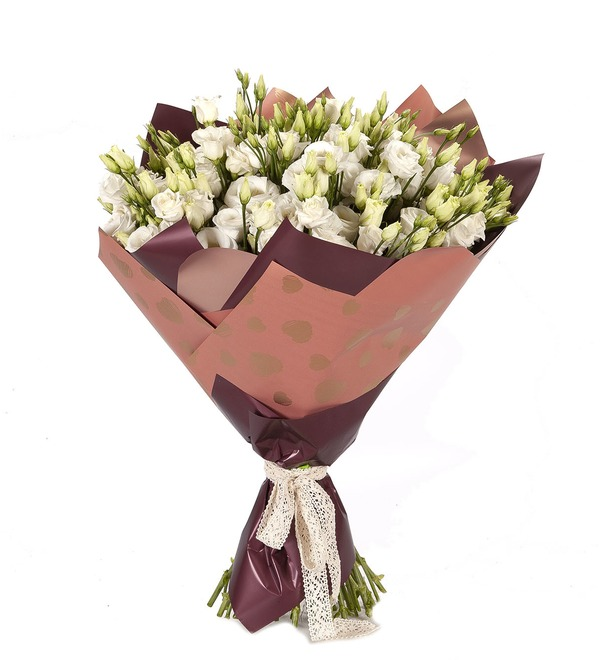 Bouquet-solo White eustoma (15,25,51 or 101) – photo #4